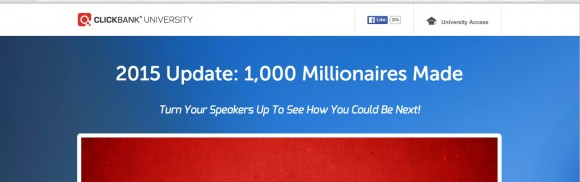 ClickBank University 1000 Millionaires Made