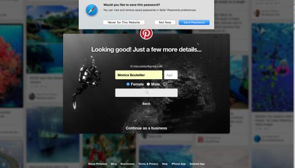 Pinterest Save Password In Safari