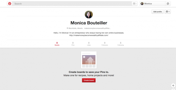 Pinterest Create A Board Button