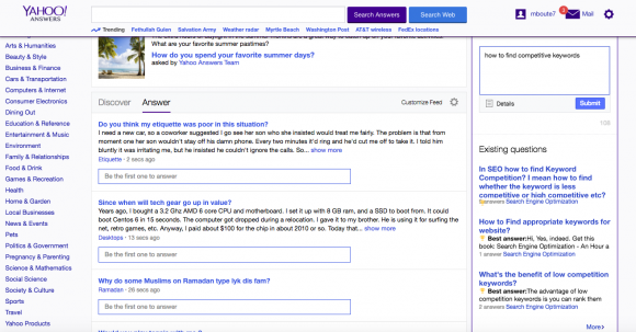Answers Yahoo Com Keywords