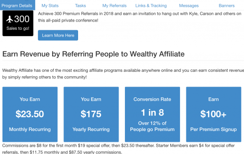 Earn Wealthy Affiliate Revenue