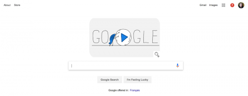 Google Call To Action Negative Space