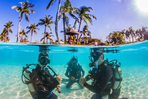 Scuba Divers Taking Course