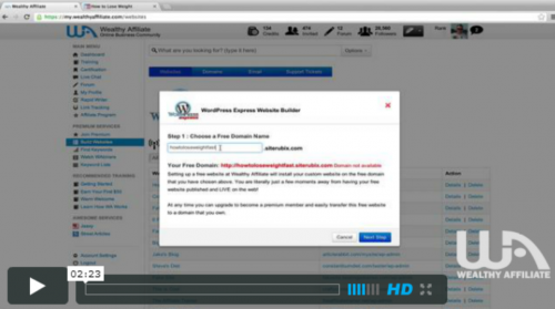 Create Website in 30 Seconds