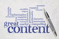 Great Writing Content Concept