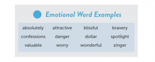 Emotional Word Examples