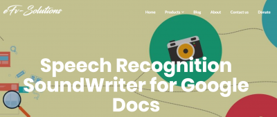 Speech Recognition SoundWriter for Google Docs