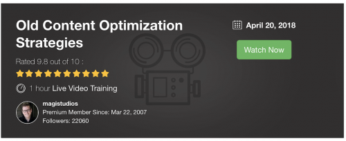 Old Content Optimization Strategies